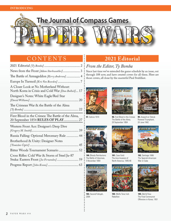 PW #98 Table of Contents